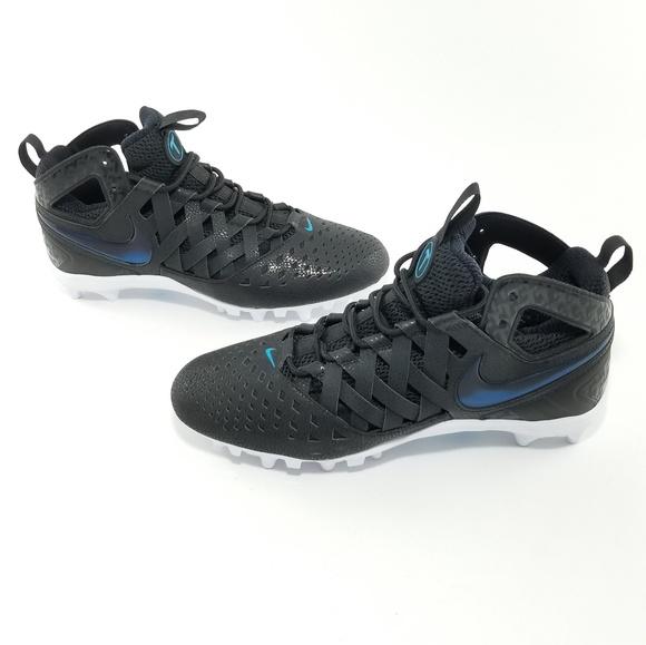 Nike Huarache V elite lacrosse cleats Black, Blue